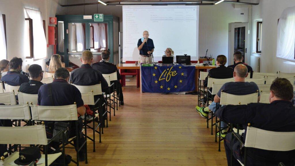 Prosegue a Sedico la formazione per il monitoraggio - Life Wolfalps EU