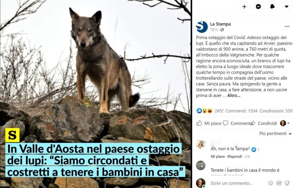 Situazioni simili, soluzioni opposte: Arvier (AO) e Villa Lagarina (TN) - Life Wolfalps EU