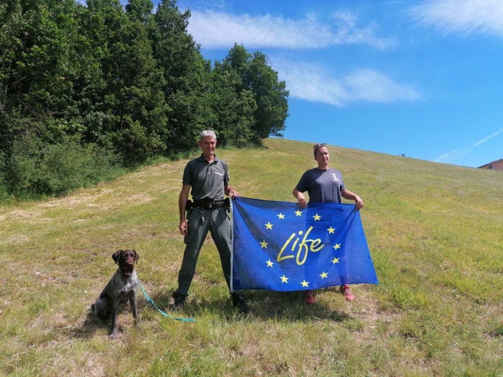 Una giornata di training per le nuove unità cinofile antiveleno - Life Wolfalps EU