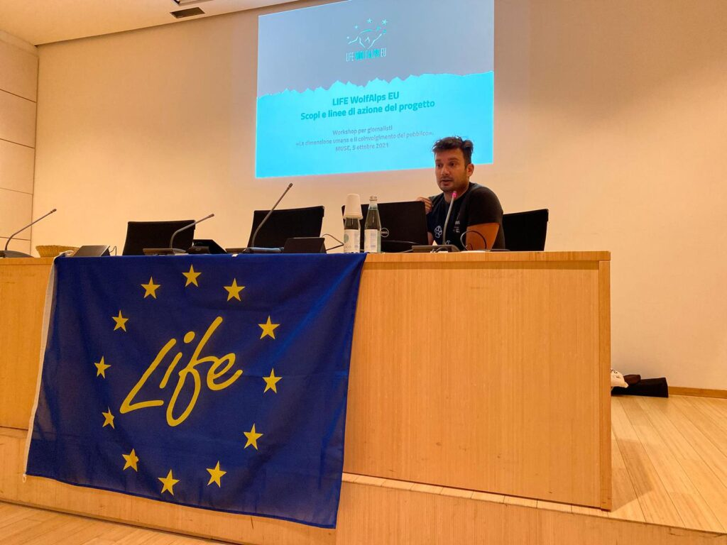 La dimensione umana e il coinvolgimento del pubblico: workshop per giornalisti al MUSE - Life Wolfalps EU
