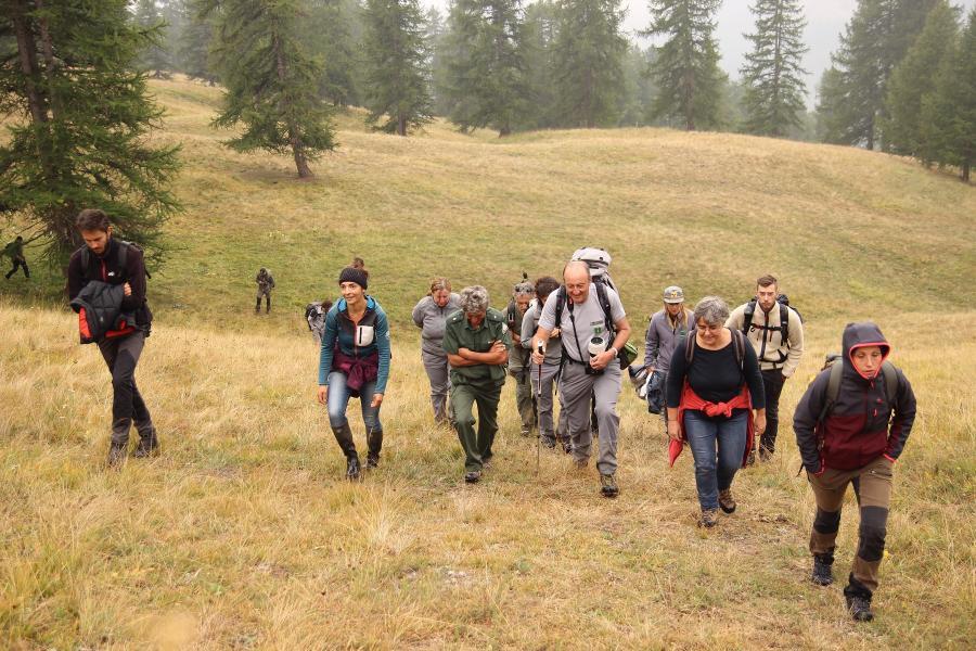 WPIU Field Visit in Alpi Cozie - Life Wolfalps EU
